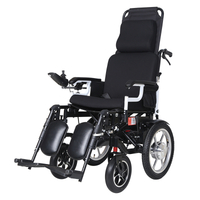 DLY-806 High Back Lying Electronic Brake Anti-Bump Folding Motor Wheelchair