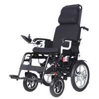 DLY-806 Easy Operation Comfortable Simple Electric Folding Wheelchair No Lying