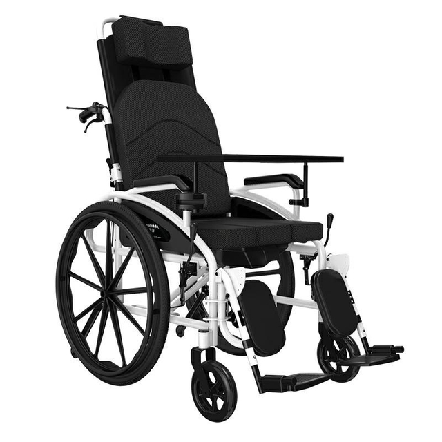 Maidesite SLY-119 High Back Full Lying Manual Wheelchair with Commode